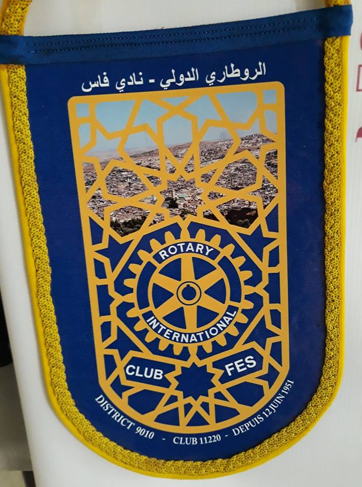 fanion rotary club de fès